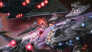 wars ambience space battle background x wing tie