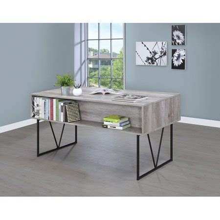 coaster company home office analiese writing desk grey