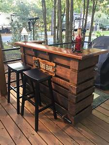 Pallet bar tiki bar margarita bar oo july sale oo the for Outdoor patio bars for sale