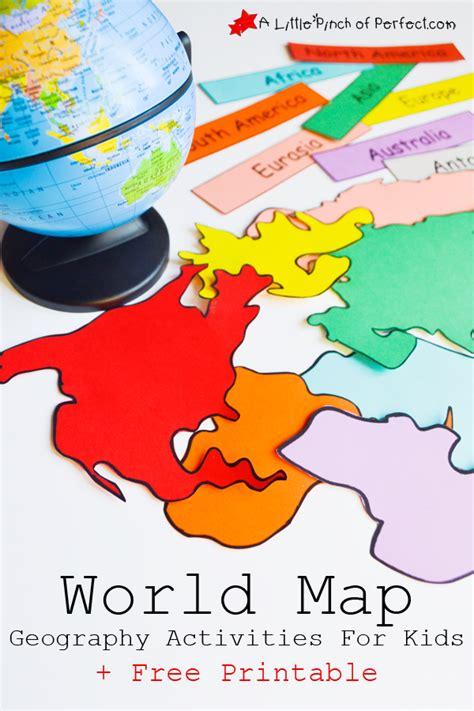 interactive world map  activities