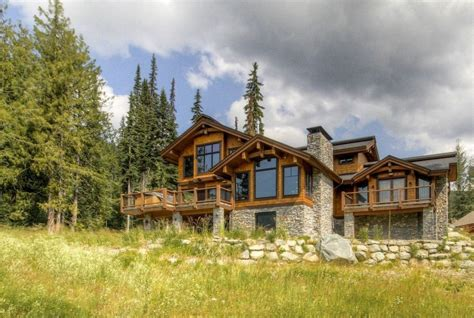 timber ski chalet north american log crafters