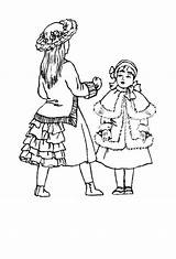 Victorian Coloring Pages Costume 1870 Childrens Children Woman Clothes Hairstyles Young Clothing Era Fashions Child Historical 1875 1880 History Costumes sketch template