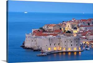 Croatia  Dalmatia  Dubrovnik  Old Town  Stari Grad  Photo Canvas Print