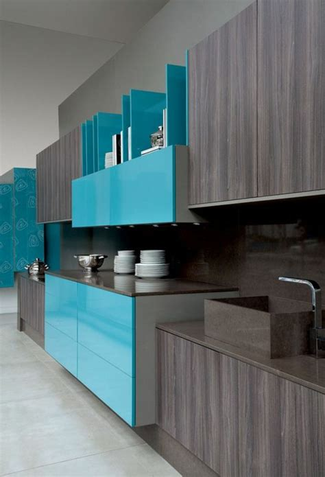 awesome cuisine mur bleu turquoise ideas design trends