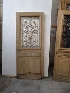 porte d39entree bois massif chene vitree With porte d entrée alu avec salle de bain chene