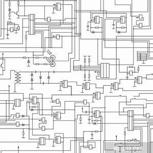 Vector Seamless Electrical Circuit Diagram Pattern Wall