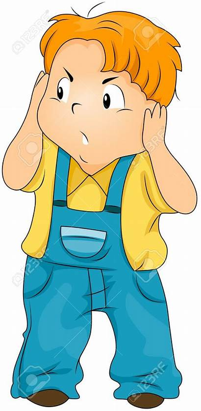 Ears Covering Kid Noise Clipart Loud Annoyed