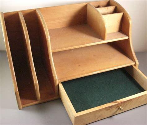 wooden desk organizer  cubbyholes drawer birouri