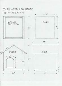 Dog house drawing and materials list for the home for Free dog house plans and material list