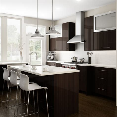 Backsplash Ideas White Cabinets Brown Countertop by Brown Kitchen Cabinets With White Subway Tile Quicua