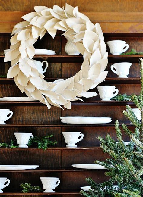 diy drop cloth wreath thistlewood farm