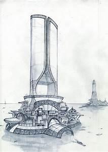 futuristic architecture sketch - Google Search   Le Forme ...