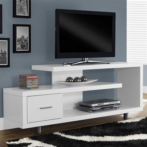 white modern tv stand fits     flat screen tv