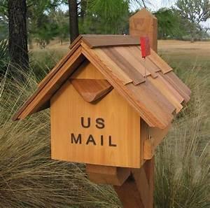 Buy, Mb101, Cedar, California, Large, Mailbox, With, Chimney, Flag