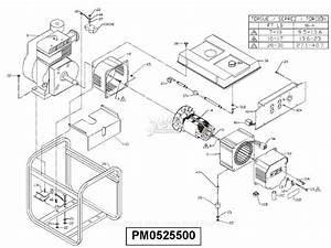 Powermate Formerly Coleman Pm0525500 Parts Diagram For Generator Parts