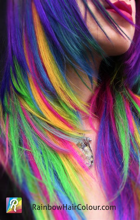 Unicorns Mane Hand Dyed Rainbow Hair Extensions