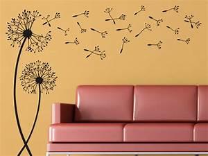 Wandtattoos Wehende Pusteblumen Mit Wegfliegenden Samen
