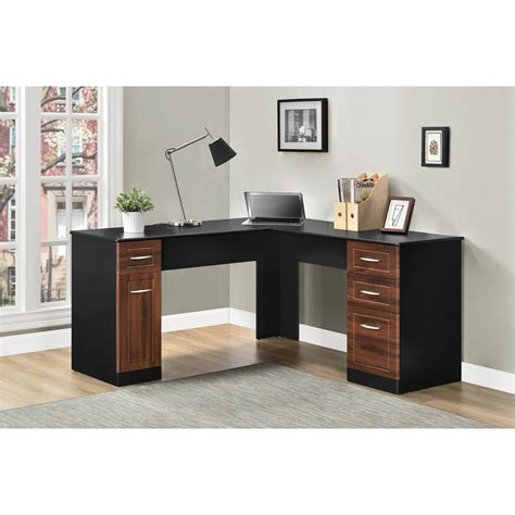 Ameriwood L Shaped Desk Assembly by Ameriwood Furniture Avalon L Desk Black Cherry