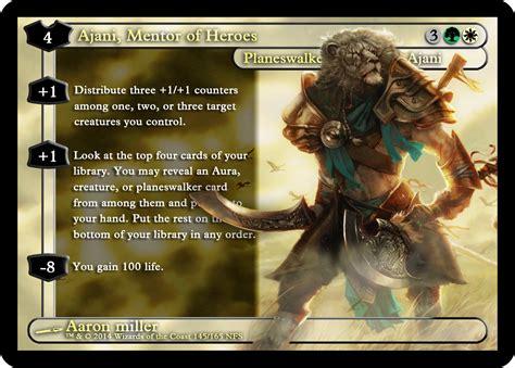 Ajani Mentor Of Heroes Commander Deck by Mtg Custom Ajani Mentor Of Heroes Proxy Magic Alt Card