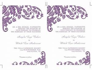 formatted 2 page wedding invitation templates microsoft word With template for wedding invitations in microsoft word