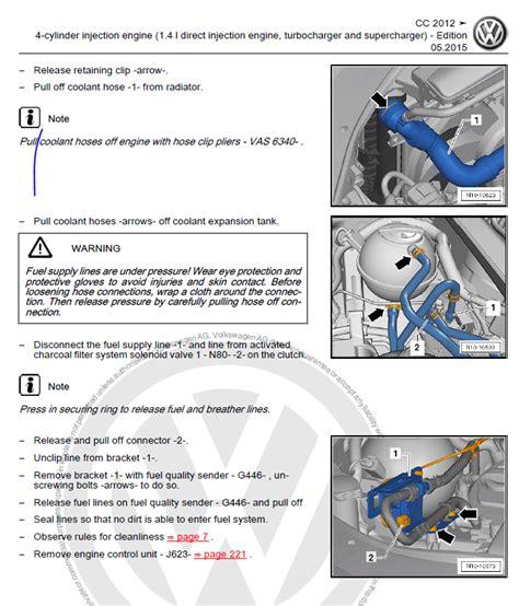 vw passat cc   repair manual factory manual