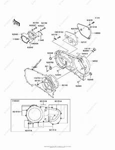 Kawasaki Motorcycle 2002 Oem Parts Diagram For Right Engine Cover S