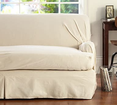 Slipcover For Sofa Cushions Separate by Separate Seat T Arm Cushion Fit Slipcover Twill