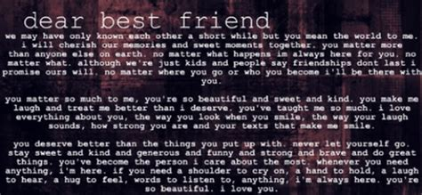 a letter to my best friend sweet letter to a best friend on we it 31973