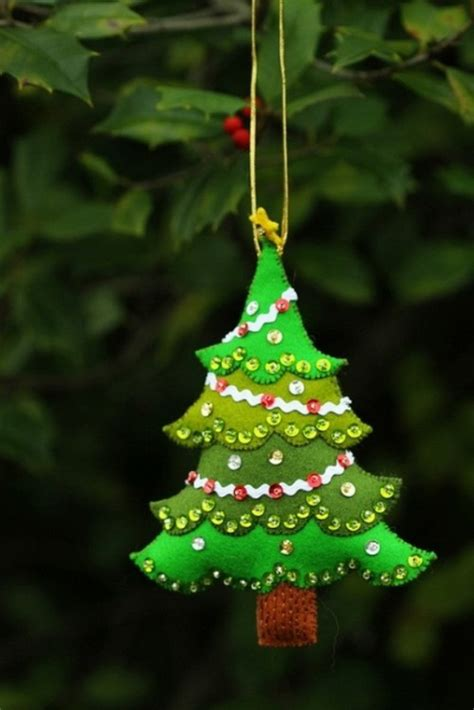 awesome christmas tree ornaments felt christmas ornaments awesome homemade decoration for your tree