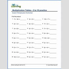 Grade 3 Multiplication Worksheets  Free & Printable  K5 Learning