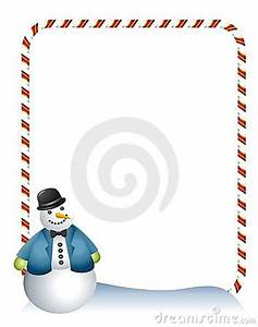 Candy Cane Snowman Border Royalty Free Stock Photography ...