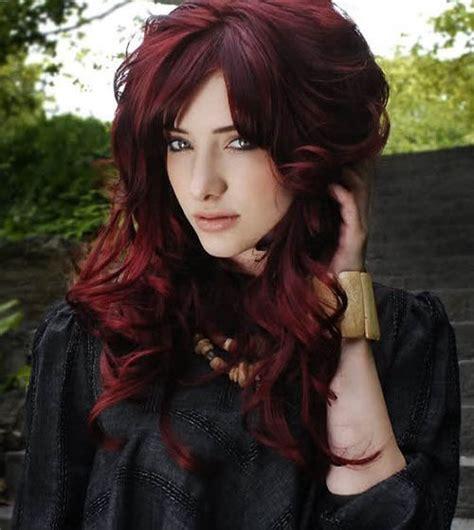 unique red hair dye colors  dark mahogany red brown hair