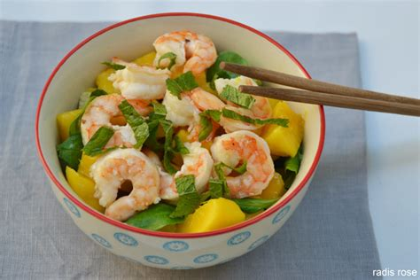 cuisiner mangue salade mangue avocat crevette radis