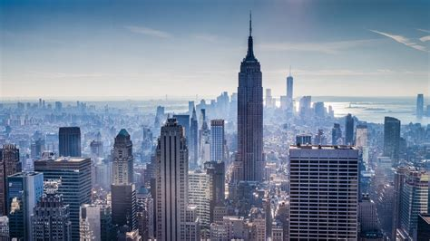 wallpaper  york city manhattan empire state building