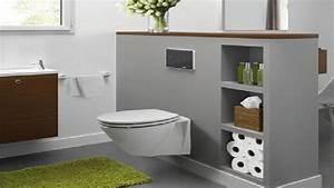 Cuvette Wc Bois : d co toilette wc cuvette suspendu meuble lave main rouge ~ Premium-room.com Idées de Décoration