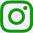 green instagram logo transparent PNG image with ...