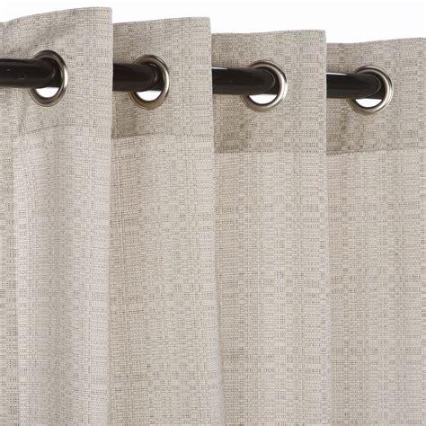 outdoor curtains with grommets sunbrella linen silver grommeted outdoor curtains