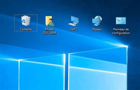 windows 7 icone bureau windows 10 afficher ce pc panneau de