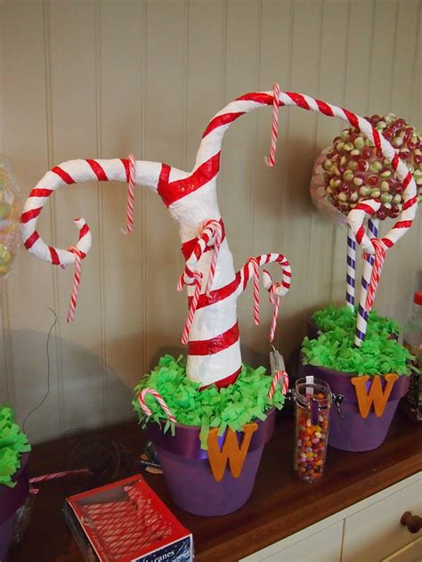 candy cane tree willy wonka party pinterest trees