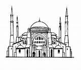 Cami Boyama Resimleri Resim Resmi Kolay Etkinlikleri Coloring Camiler Browning Symbol Template Sketch Bilgi Moskee Kunst Silhouet Het Tekening Sophia sketch template
