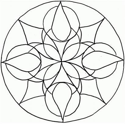 Mandala Coloring Mandalas Simple Children Template Printable