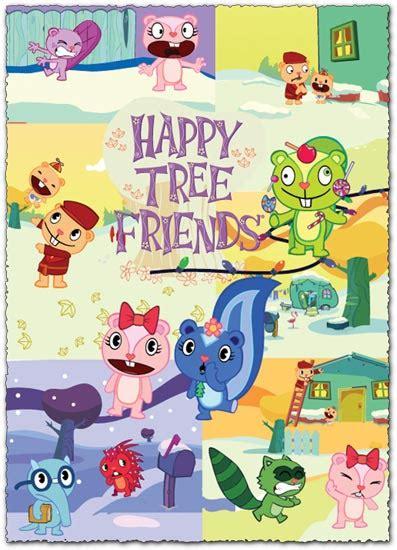 cartoon characters vector  happy tree