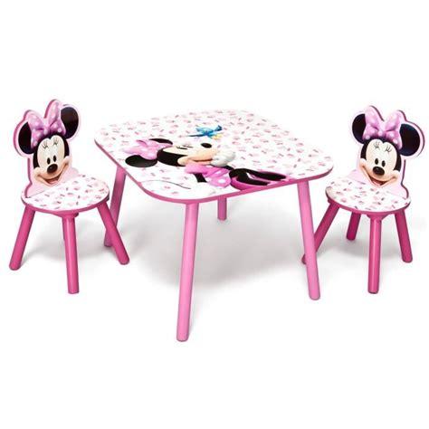 table et chaise minnie minnie table enfant et 2 chaises achat vente table