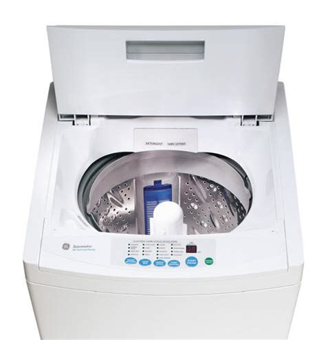 ge spacemaker extra large capacity stationary washer  stainless steel basket wslsaww