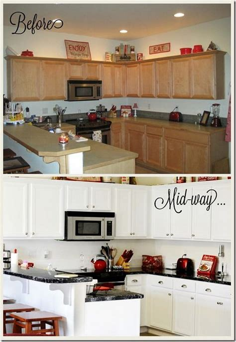 granite kitchen makeovers pretty before and after kitchen makeovers noted list 1298