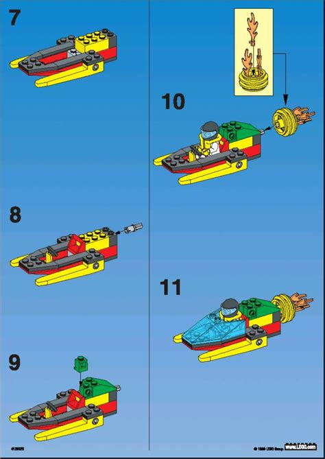 Lego Batman Boat Instructions by Lego Rocket Boat Instructions 1189 Town
