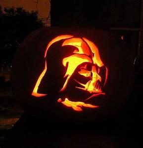 Halloween Kürbis Schablone : photo une citrouille dark vador pour halloween ~ Lizthompson.info Haus und Dekorationen