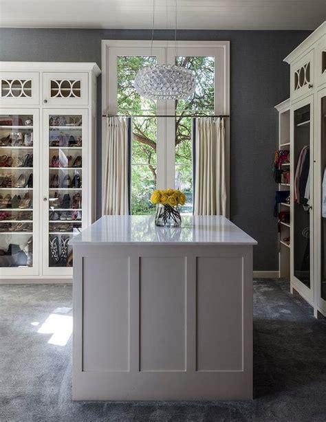 white  grey closet  island contemporary closet
