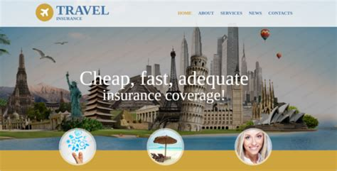 Travel Insurance Website Template by Insurance Website Templates Themes Free Website Templates