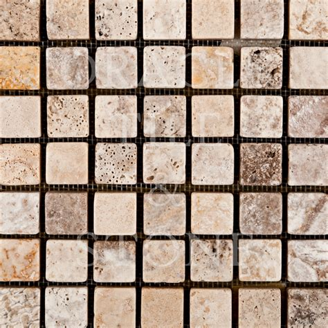 Oracle Tile And Stone by Andean Cream Travertine 5 8 X 5 8 Mosaic Tile Oracle